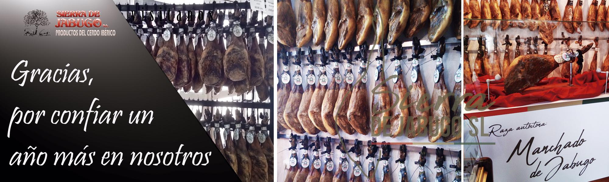 Agradecimiento tiendas Sierra de Jabugo